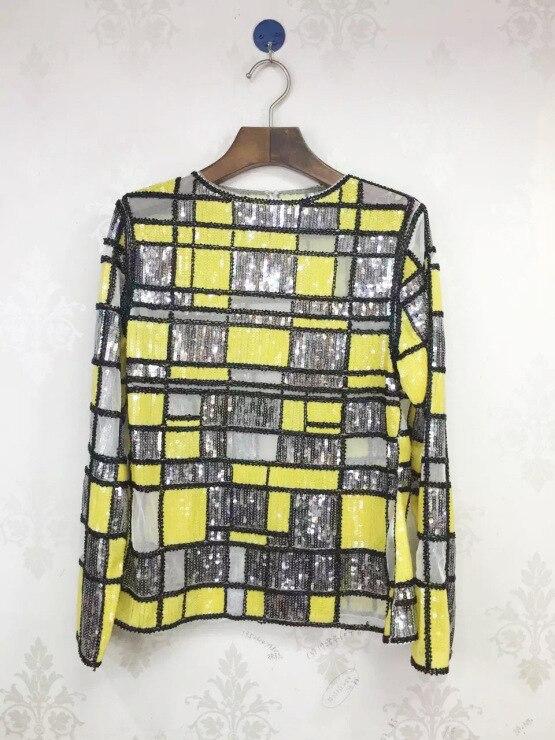 VANOVICH/Модная кружевная рубашка с расклешенными рукавами, с вырезом лодочкой, блузки и топы, женская летняя и весенняя Новинка 2019, женская оде... - 5