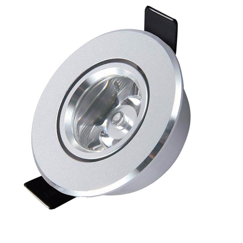 1W LED կրակակետով Downlight 110V 220V Dimmable LED Առաստաղի հարմարանք Ներքին հարդարանքի սենյակ LED Spot Downlight 3w Spot LED լամպեր