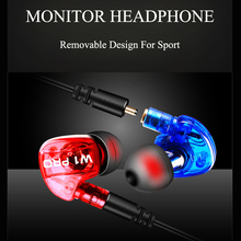 Cost Sale Sport Earphone Headphones Metal Bass Detachable Headphone HI-FI Stereo Clear Voice Headset With Mic For Phone Mp3 Mp4