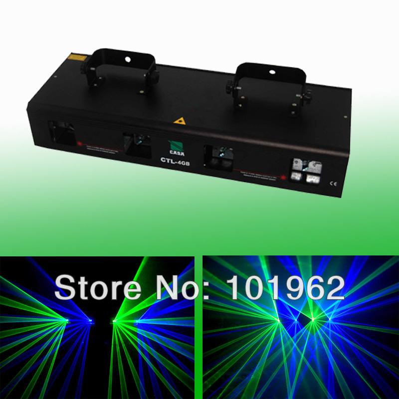 Guaranteed100% 300mW Green+Blue dmx 512 dj disco party lighting stage laser show for sale
