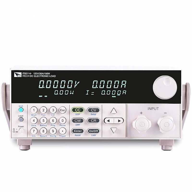 2017 Free DHL ITECH IT8511+ DC Programmable Electronic Load 120V 30A 150W 1mV 0.1mA IT8511 Battery Tester Load Meter On Sale цена и фото