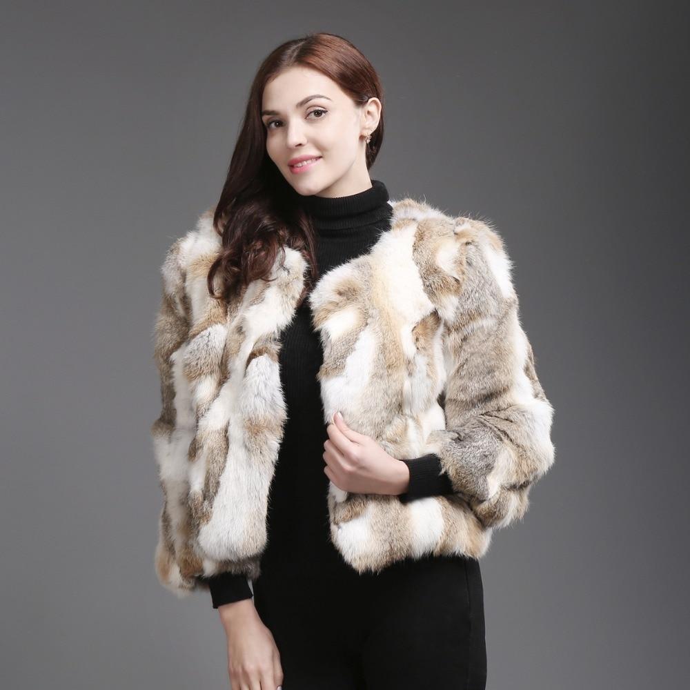 Véritable cou Lapin Chaude natural Veste 100 Mince Naturel Yellow Réel Natural Grey Vente Fourrure De Femmes Mode Manteau O R75Sp8WBqW