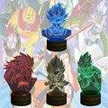 O Envio gratuito de 1 Peças De Dragon Ball Z Son Goku Cor 3D Vegeta Super Saiyan CONDUZIU a Lâmpada de Humor mudando a Luz Da Noite Criança presente