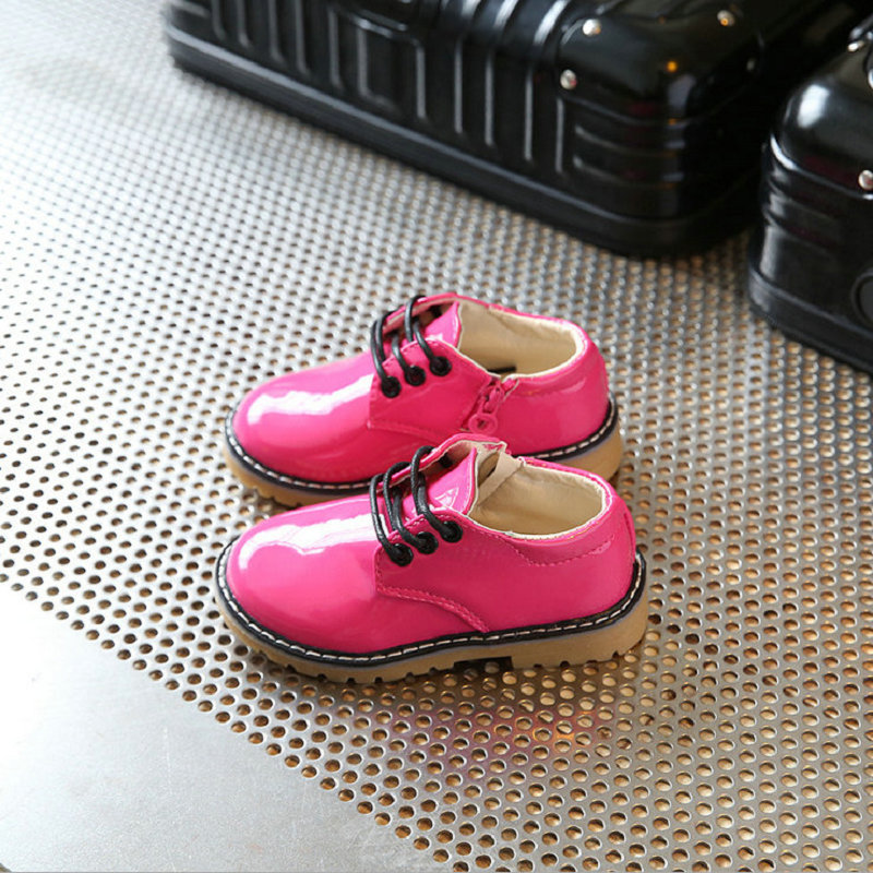 Kids Shoes bright PU 2018 New Fashion Autumn Children shoes for boys girls Casual shoes PU Leather zapateria infantil EU 21-36