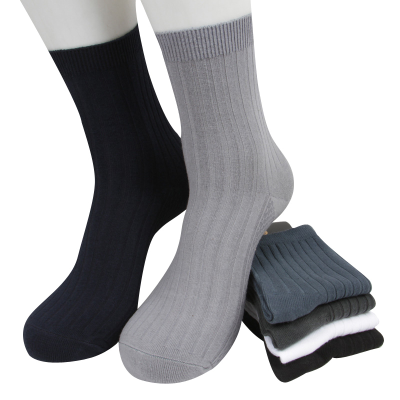 3 Pairs/lot Mens Socks Autumn Casual Solid Color Breathable Cotton Short Sock Business Formal Black Comfortable Male Sock Meias