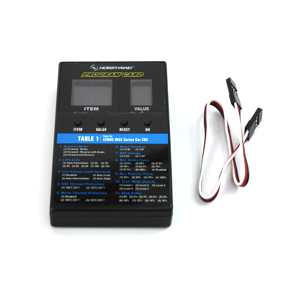 HOBBYWING 3 in 1 LED ESC Program Card Box for XERUN EZRUN MAX Series Car / Platinum Series / SEAKING Series RC Boat ESC F18069