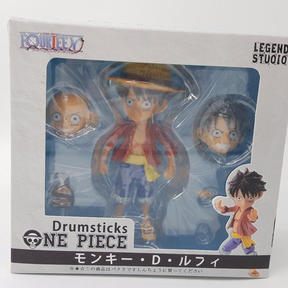 One Piece Monkey D Luffy Nendoroid PVC Action Figures 100mm Anime One Piece Luffy Zoro Sanji Nendoroid Model Toy Doll 1