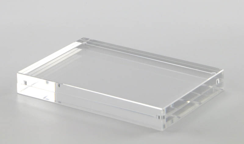 Double Sided Display Clear Acrylic Perspex Magnet Photo Block Frames ...