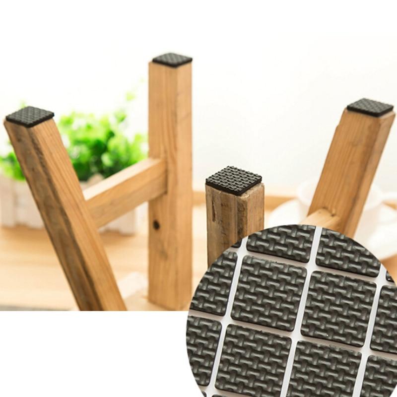 1Set Square Multifunction Black Self Adhesive Furniture Leg Table Chair Sofa Feet Floor Non-slip Mat Sticky Pad Protector