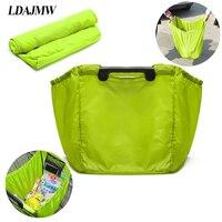 LDAJMW Large Capacity Waterproof Nylon Shopping Bag Portable Storage Bags Folding Recycled Eco Supermarket Shopping Bag
