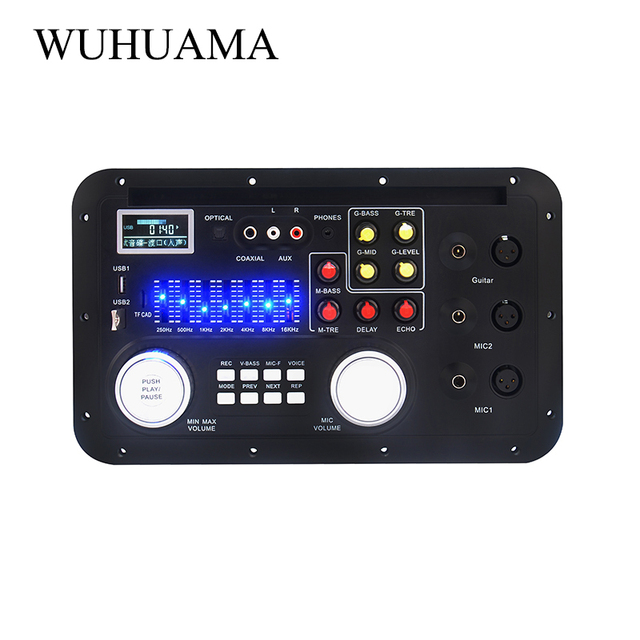 Bluetooth Audio Sound Mixing Console MP3 Module Record Guitar Mic W. Optical Coaxial Aux Input Analog I2S Output Spectrum USB