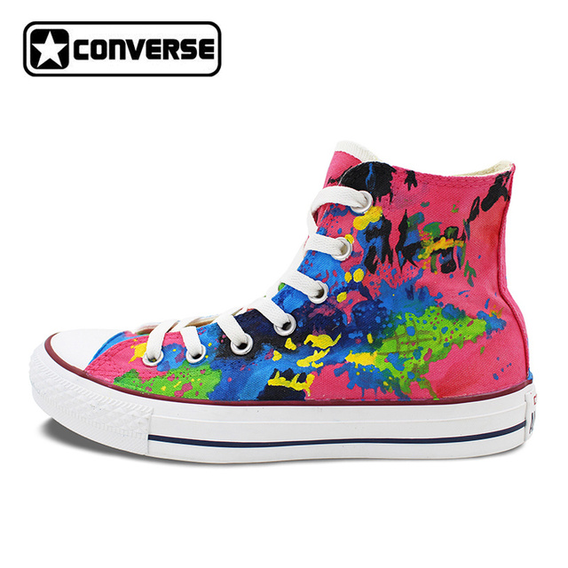 womens Skateboarding Shoes Canvas ink brush painting Sport Sneaker