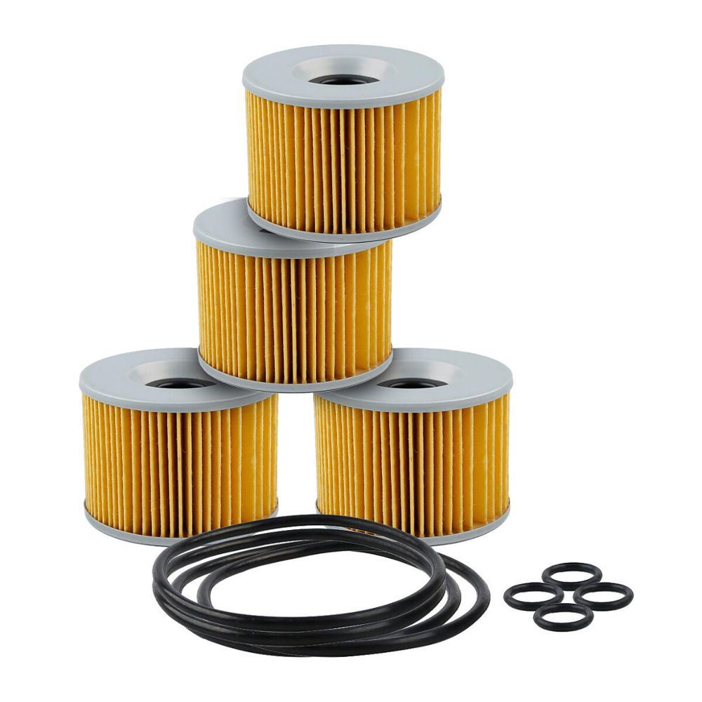 4 x filtro de oleo da motocicleta para honda gl1000 gl1100 gl1200 cb750 cb900 ex250 novo