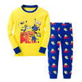 2015 New Kids Minions Clothes Baby Despicable Me Pajamas Boys Pijamas Girls Cute Pyjamas Children 100% Cotton Printing Sleepwear