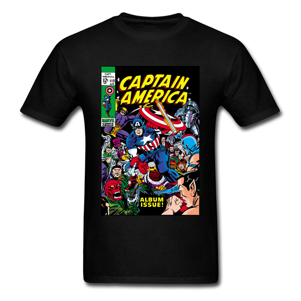 Captain America Amazing Marvel Comic New Tshirt Spider Man Superhero Spiderman Batman Ironman Cotton Summer/Fall Men T-Shirt