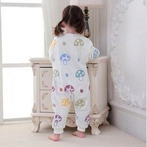 Image 4 - Muslin bebek uyku tulumu kış 6 kat pamuklu çocuklar uzun kollu pijama 0 5 yıl çocuk pamuk Sleepsack bebek pijama