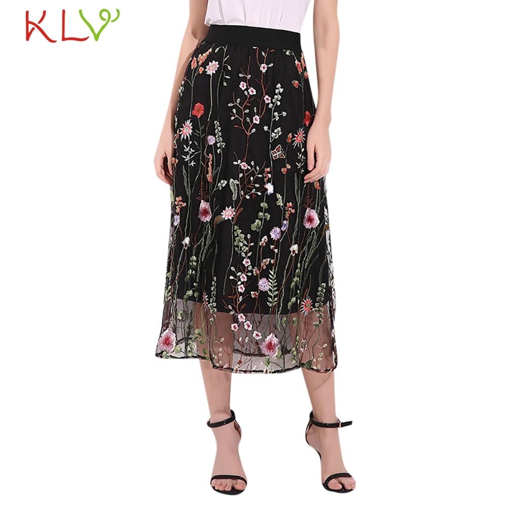 259827ae0 Flectit mujeres Vintage largo negro Falda Mujer Casual ver A través ...