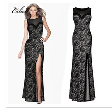 Buy burgundry lace long dress and get free shipping on AliExpress.com 2914cf155b7e
