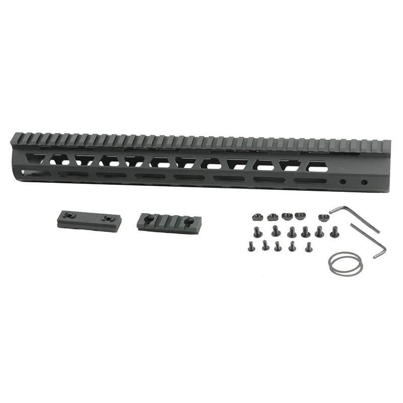 Funpowerland Tactical Ultra Slim M LOK Free Float 15 inch Rail Mount handguard Fit AR15 M4