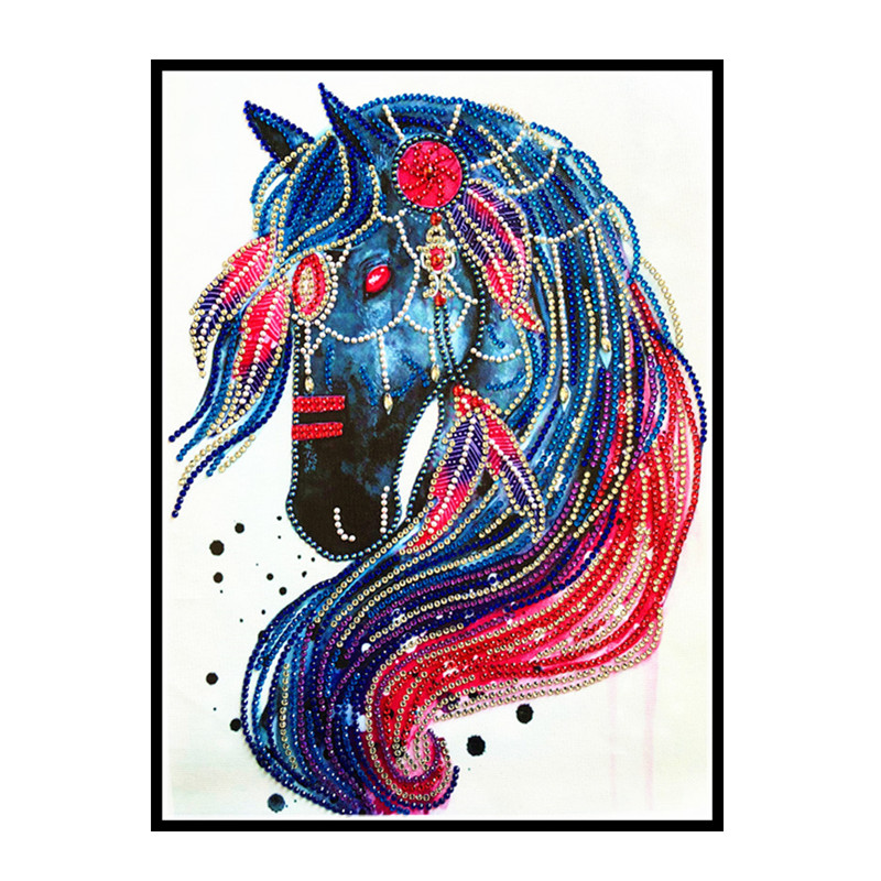 Special form painting animal horse rhinestone beads diamond unicorn mosaic sale kit craft home decoration