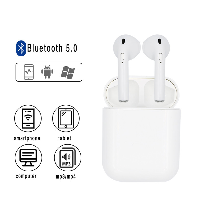 <font><b>i10s</b></font> <font><b>tws</b></font> <font><b>Bluetooth</b></font> Earphone <font><b>5.0</b></font> Original Handsfree Head phones USB Charging HiFi Music 3D Sound Earbuds For iPhone Android pods image