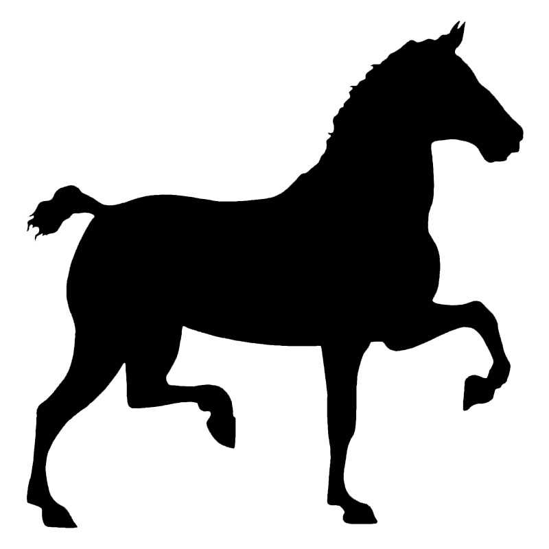 16.5*16.7CM Funny Walking Horse Car Stickers Interesting Car Styling Vinyl Waterproof Decal Black/Silver S1-2097