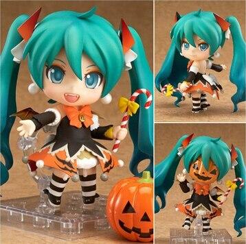 Новый горячий 10 см в версии хацунэ мику хэллоуин мобильный фигурку игрушки рождественской коллекции игрушки куклы