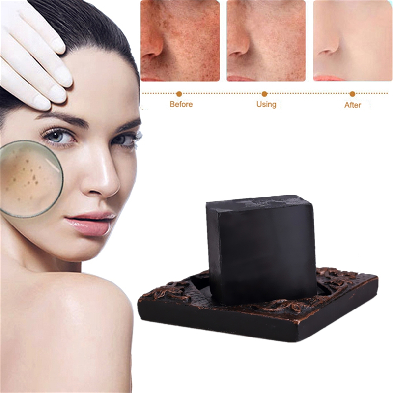 100% Nature Bamboo Charcoal Blackheads Remove Soap Neck Hand Body Whitening Perineum Armpit Odor Melanin Remover Beauty Soaps