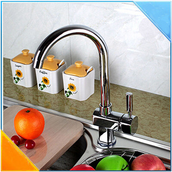 Homedec High Quality Kitchen Basin/Sink Faucet Kitchen Tap Copper Alloy Chrome Mixer For Hot And Cold Dishes Torneira Cozinha
