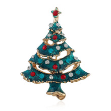 CINDY XIANG Creative Blue Paint Christmas Tree Brooches For Women Alloy Jewelry Gift Sweater Coat Dress Accessories Casual Pins