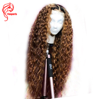 Hesperis Ombre Lace Front Wigs Pre Plucked With baby Hair Brazilian Remy Lace Front Human Hair Wigs Two Tone Culy Lace Wigs