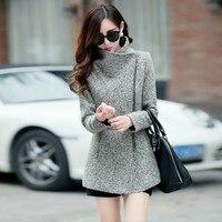 Europe Autumn Winter Fashion Women Slim Jackets Coats Women S Temperament Woolen Jackets Coats Female Casual