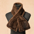 Real mink knitted scarf  Warm Winter Scarf Scarf For Men And Women Fishtail Oblong Scarf Fashion mink hair black  coffee