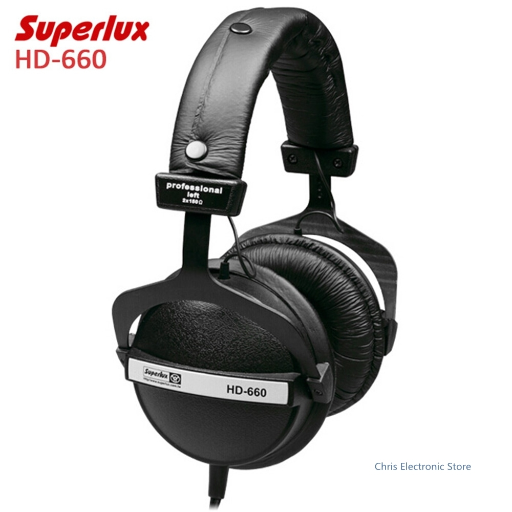 Original Superlux <font><b>hd660</b></font> Professional Monitoring Music Headphones Noise Canceling Clear Sound Soft Earmuff Headset Good Sound image