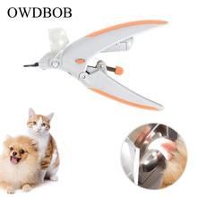 OWDBOB кусачки для ногтей для домашних собак измельчители со светодиодный светильник и 5X Лупа уход за домашними животными Собаки Уход за когтями триммер для ногтей Ножницы