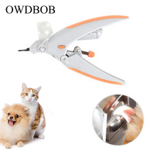 OWDBOB Pet Dog Nail Clippers Grinders with LED Light and 5X Magnifier Care Dogs Grooming Claw Trimmer Cutter Scissors