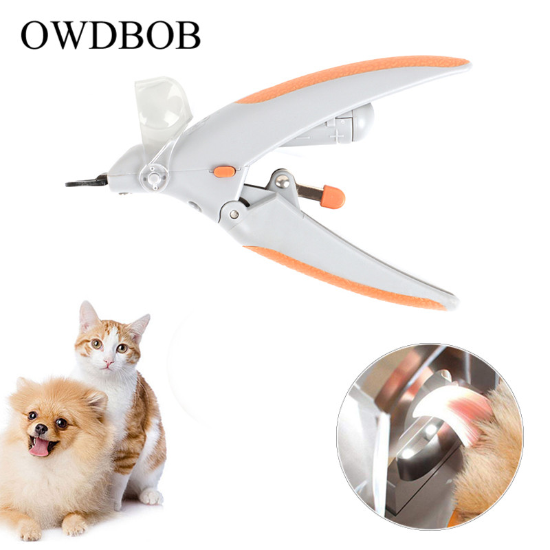 OWDBOB Pet Dog Nail Clippers Grinders with LED Light and 5X Magnifier Pet Care Dogs Grooming Claw Nail Trimmer Cutter Scissors image