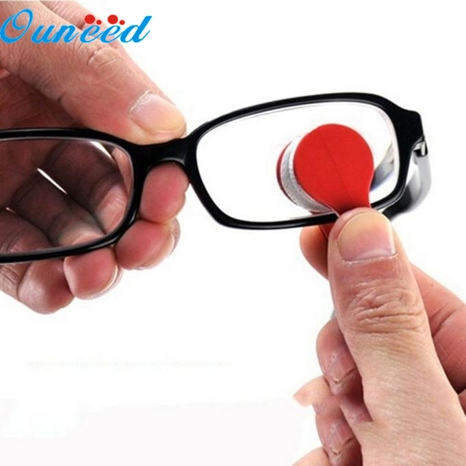 Ouneed Happy Home 2PC Glasses Sunglasses Eyeglass Spectacles Cleaner Cleaning Brush Wiper Wipe Kit