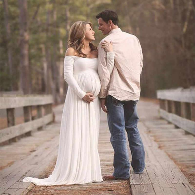 361195070d985 Women White Black Skirt Maternity Photography Props Elegant Pregnancy  Clothes Maternity Dresses pregnant Photo Shoot Clothing