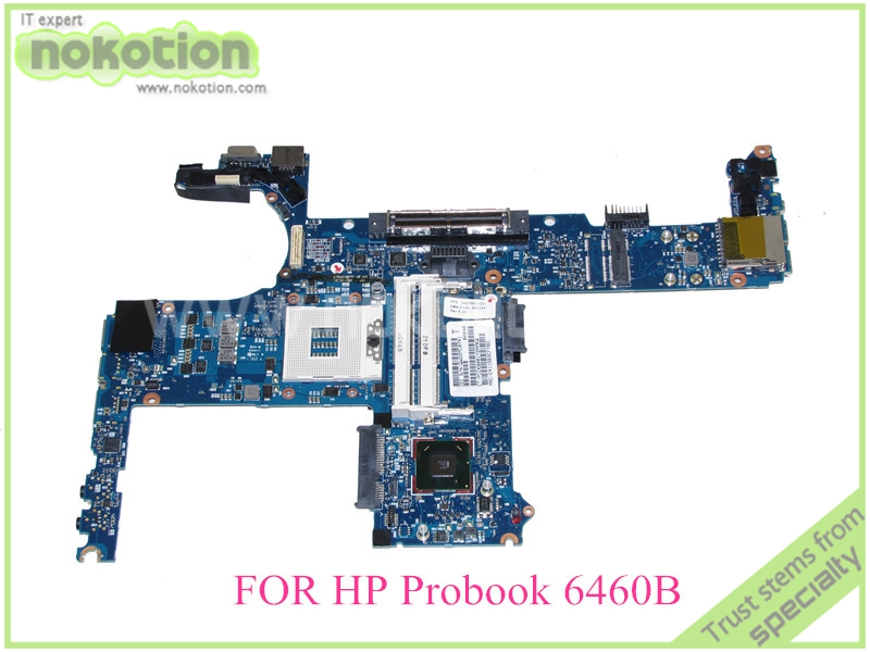 NOKOTION 642755-001 for hp elitebook 6460B 8460P laptop motherboard HM65 Intel HD graphics DDR3 574680 001 1gb system board fit hp pavilion dv7 3089nr dv7 3000 series notebook pc motherboard 100% working