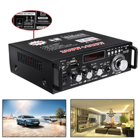 12V 220V LCD Display Digital Amplifier HIFI Audio Stereo Bluetooth FM 2CH AMP Car Home USB SD MP3 Player