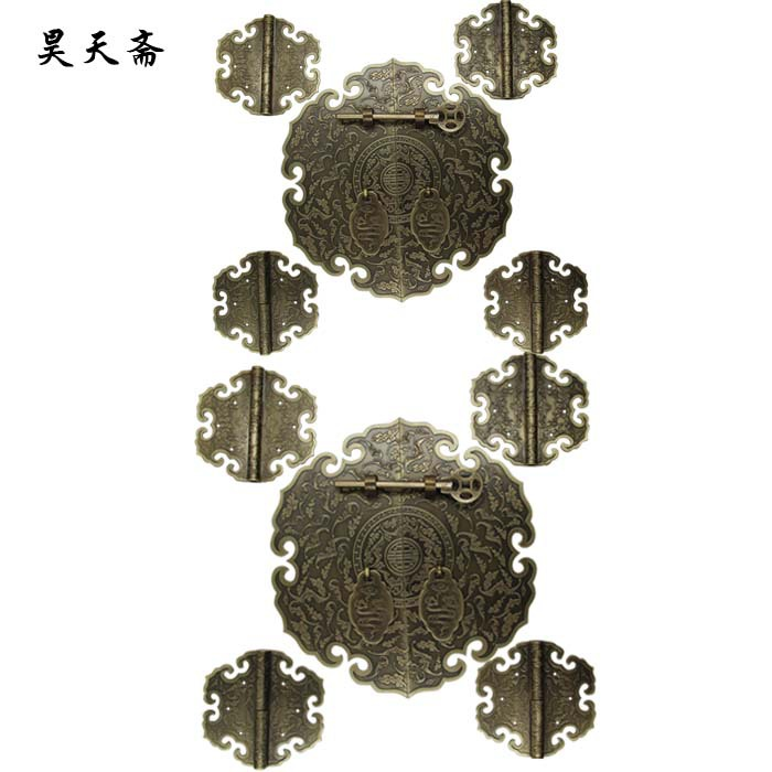 2016 chinese bronze decoration of antique doors cabinet for Antique door decoration