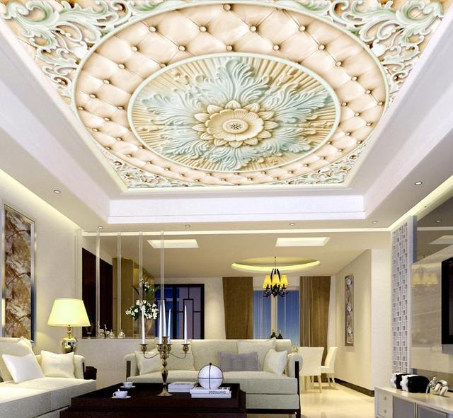 Europäischen Roman Decke Tapetenwandbilder 3D Fototapete Blume ...
