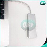 1 x 6 in 1 TC643 TYPE-C adapter Type-C to USB 3.0 X 2 + HDMI + SD/TF Card Reader hub Silver Grey (2)