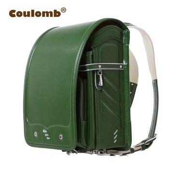 218472421803 Детская школьная сумка colomb для детей, зеленые ортопедические рюкзаки,  Mochilas Infantis Randoseru, однотонная