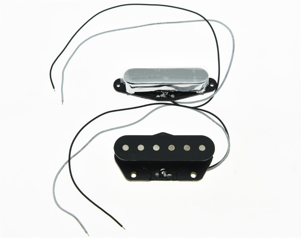 KAISH 2x Neck& Bridge   Tele Pickup Set Guitar Pickups for Telecaster Chrome kaish black p90 high power sound neck