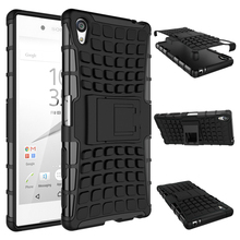 For Sony Z5 Premium Case E6833 E6883 Heavy Duty Armor Shockproof Hybrid Stand Hard Rugged Rubber Cover Xperia Plus