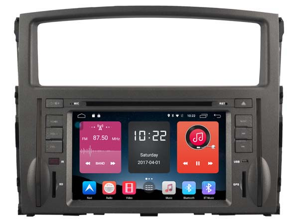 Android 6.0 CAR DVD FOR MITSUBISHI PAJERO 2006-2011 car audio gps player stereo head unit Multimedia build in 4G <font><b>module</b></font>