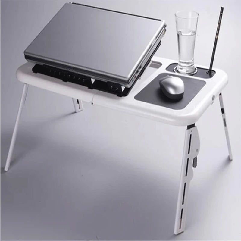 Fashion Modern Multifunction Laptop Table Portable Folding Bed Laptop Table Convenient Table Beside Bed Sofa With Cooling Fans