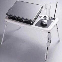 Moda Modern Çok Fonksiyonlu dizüstü bilgisayar masası Taşınabilir katlanır yatak dizüstü bilgisayar masası Uygun Masa Yanında Yatak Kanepe Soğutma Fanı Ile